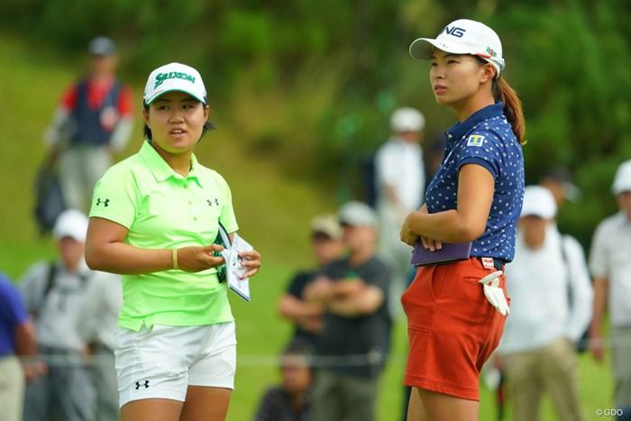 日本の女子ゴルフ界の未来は明るいね。 2019年 日本女子オープンゴルフ選手権 2日目 畑岡奈紗 渋野日向子