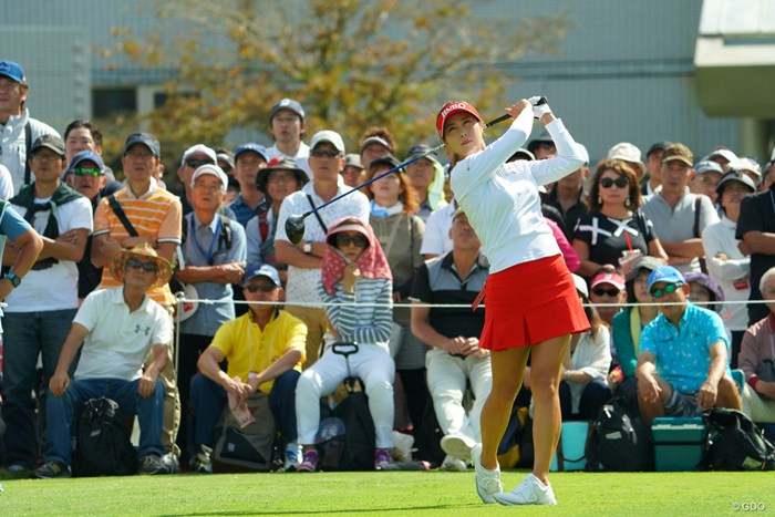 風が難しかった午後、イーブンパーは耐えた方だと思いますよ。 2019年 日本女子オープンゴルフ選手権 2日目 キム・ハヌル