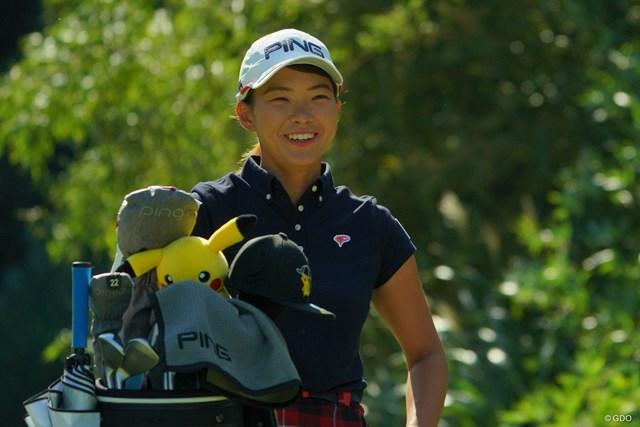2019年 日本女子オープンゴルフ選手権  3日目 渋野日向子 渋野日向子は後半巻き返して笑顔も見せた