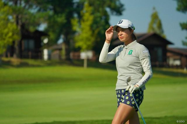 2019年 日本女子オープンゴルフ選手権 3日目 大里桃子 ウェッジショットが抜群にうまいね。