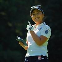 おいおい、その決めポーズ、かわいすぎるだろー! 2019年 日本女子オープンゴルフ選手権 3日目 青木瀬令奈