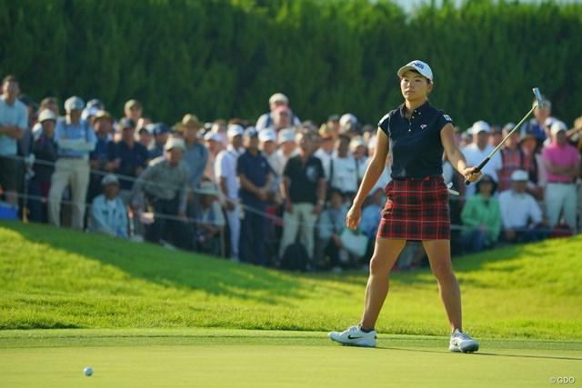 2019年 日本女子オープンゴルフ選手権  3日目 渋野日向子 渋野日向子は6mのイーグルトライをわずかに外した