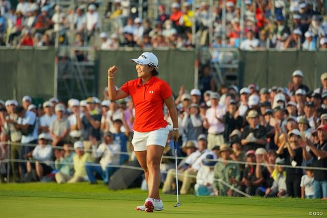 2019年 日本女子オープンゴルフ選手権 最終日 畑岡奈紗 「初心に帰るつもりで」とアマチュア時代に優勝した時と同じカラーのウェアを着用して臨んだ