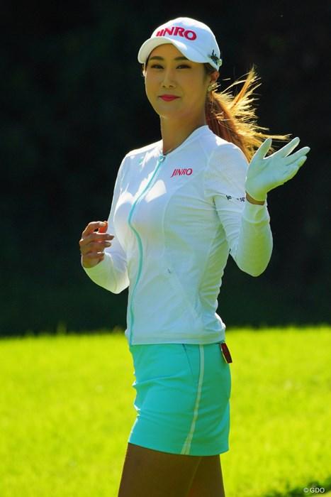 ハヌル様はこれからも必ずド逆光で撮影しようと決めた1枚。 2019年 日本女子オープンゴルフ選手権 最終日 キム・ハヌル