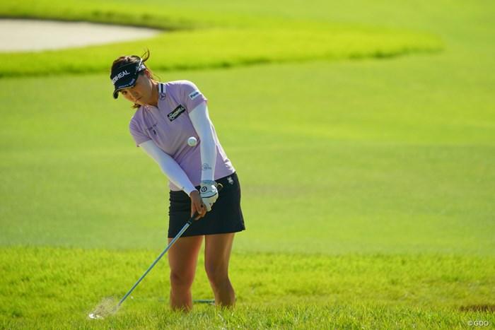 この力感のないアプローチショットを真似てみたい。 2019年 日本女子オープンゴルフ選手権 最終日 ユ・ソヨン