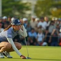18番は惜しくもイーグルはならず。でもきっちりバーディを決めて2位タイフィニッシュ。 2019年 日本女子オープンゴルフ選手権 最終日 大里桃子