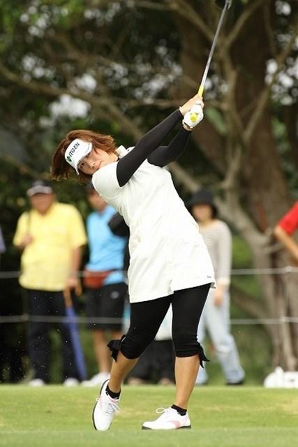 プロデビュー戦の綾田紘子が、最終日に宮里藍とラウンドすることになった