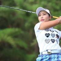 首位で初日を終えた竹内美雪(提供:日本女子プロゴルフ協会) 2019年 かねひで美やらびオープン 初日 竹内美雪