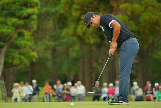 2019年 ブリヂストンオープンゴルフトーナメント 初日 時松隆光 時松隆光は最終9番で2つ目のイーグルを決めた