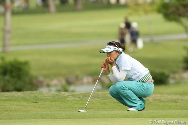 有村智恵/ダイキンオーキッドレディス最終日 賞金女王獲りを宣言した有村智恵が開幕戦から2位タイの好スタート