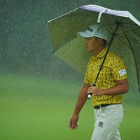 最終18番では土砂降りに。 2019年 ブリヂストンオープンゴルフトーナメント 2日目 今平周吾