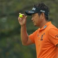 カメラマンは撮影をしているとボールの行方が分からないのですが、藤田さんは黄色いボールなのでどこにあるかすぐに分かるので本当に助かります。 2019年 ブリヂストンオープンゴルフトーナメント 2日目 藤田寛之