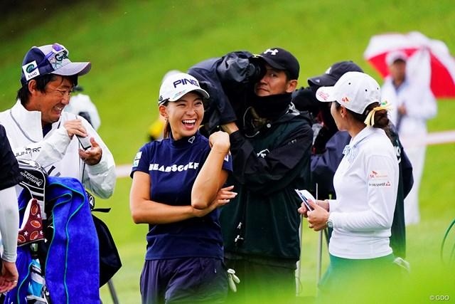 2019年 スタンレーレディスゴルフトーナメント 初日 渋野日向子 右目でシブコ、左目でボミ