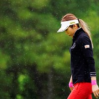 雪の降る森を 2019年 スタンレーレディスゴルフトーナメント 初日 金田久美子
