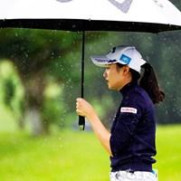 激しい雨が降る中で三浦桃香は好感触を得た 2019年 スタンレーレディスゴルフトーナメント 初日 三浦桃香