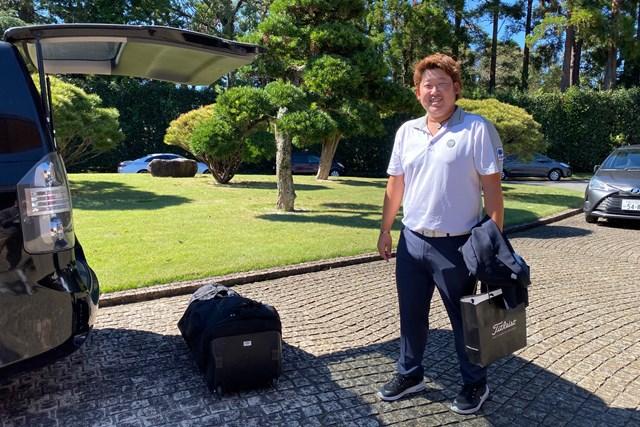 2019年 ブリヂストンオープンゴルフトーナメント  最終日 大槻智春 中止になった最終日は荷物整理で会場入り。大会を2位タイで終えた大槻智春