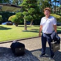 中止になった最終日は荷物整理で会場入り。大会を2位タイで終えた大槻智春 2019年 ブリヂストンオープンゴルフトーナメント  最終日 大槻智春