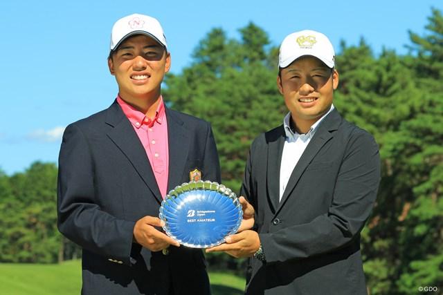 2019年 ブリヂストンオープンゴルフトーナメント 最終日 清水大成 砂川公佑 ベストアマを分け合った、同スコアの2人。