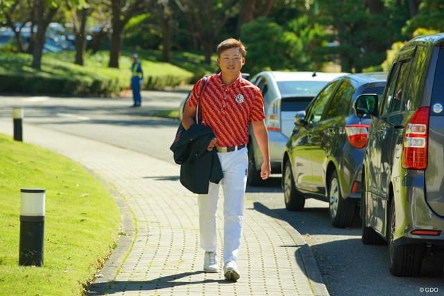 2019年 ブリヂストンオープンゴルフトーナメント 最終日 今平周吾 表彰式出席の為、ご出勤の今平プロ。