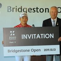 ZOZOも楽しみですね。 2019年 ブリヂストンオープンゴルフトーナメント 最終日 今平周吾