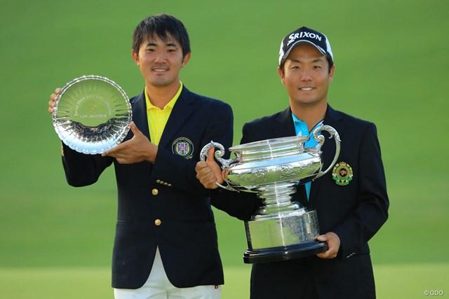 前年覇者の稲森佑貴(右)。金谷拓実には史上最多ローアマが懸かる