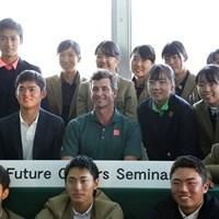 日本オープン開幕2日前にセミナーに参加したアダム・スコット 2019年 日本オープン 事前 アダム・スコット