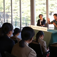ジュニアゴルファーに恒例の講義を行った 2019年 日本オープン 事前 アダム・スコット