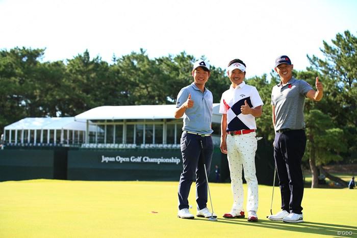 練習ラウンド、中西直人選手、ミッドアマチャンピオンの豊島豊選手と練ラン 2019年 日本オープンゴルフ選手権競技 事前 浅地洋佑