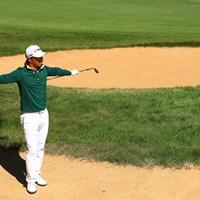 セーフですか?ん、、、、、、セーフ!! 2019年 日本オープンゴルフ選手権競技 事前 小平智
