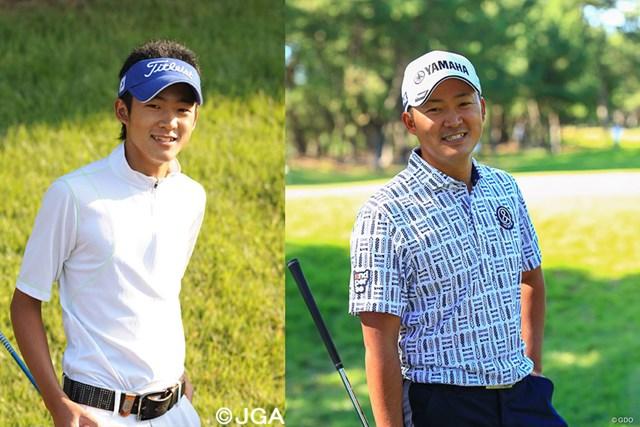 左が2008年大会(日本ゴルフ協会提供)。今平周吾は体幹にたくましさが