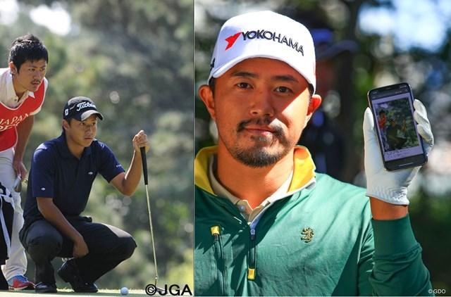 小平智は大学1年時の日本オープンで初めてツアーに出場した(左は日本ゴルフ協会提供)