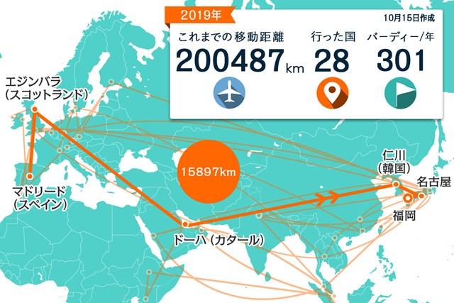 欧州から中東、韓国を経由して帰国しました