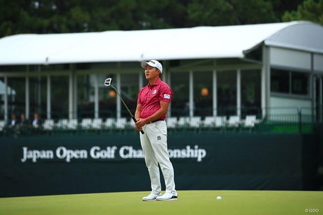 2019年 日本オープンゴルフ選手権競技 初日 今平周吾 こんな短い距離でも油断出来ない