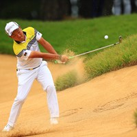 前回覇者の稲森選手、今年のコースは少し苦戦か? 2019年 日本オープンゴルフ選手権競技 初日 稲森佑貴