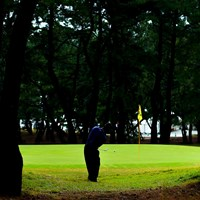 Hole7 par3   グリーン左奥からのアプローチ 2019年 日本オープンゴルフ選手権競技 2日目 時松隆光