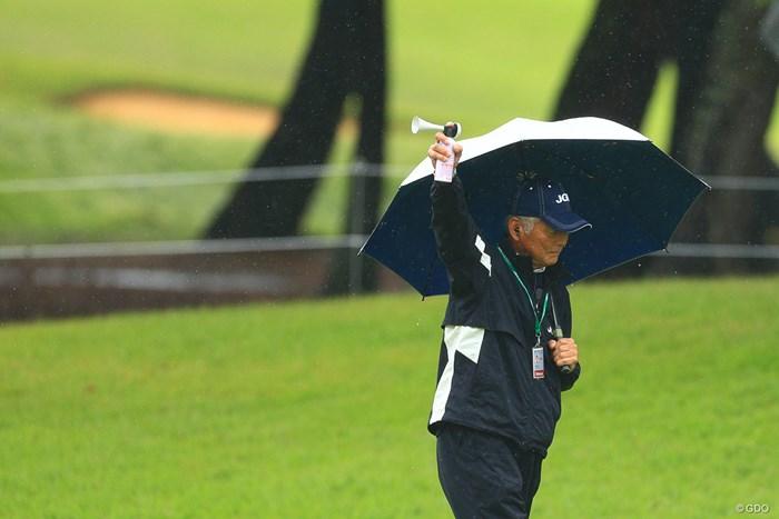 二度目の中断 2019年 日本オープンゴルフ選手権競技 2日目 JapanOpen