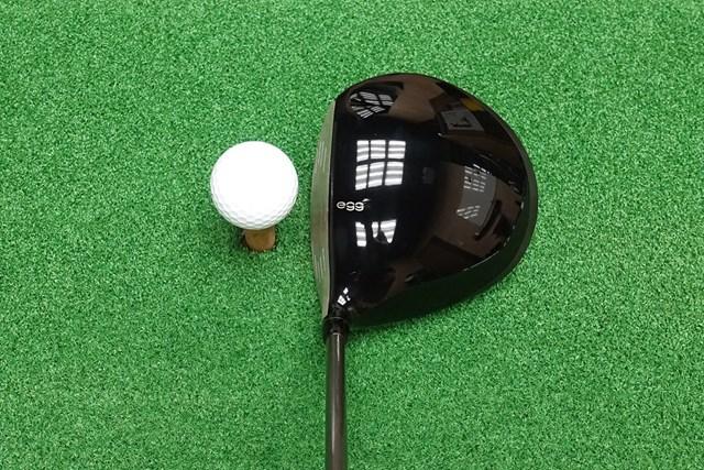 新製品レポート ニュー エッグ 5500 ドライバー ヘッドは大きめ。少しグースがあるので球をつかまえやすそうな印象