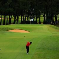 Hole16 par5  サードショット 2019年 日本オープンゴルフ選手権競技 3日目 金谷拓実