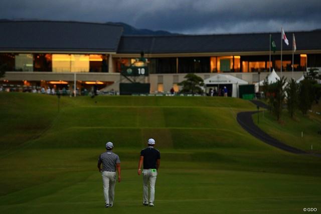 2019年 日本オープンゴルフ選手権競技  3日目 今平周吾 塩見好輝 今平周吾と塩見好輝は最終日も同組でプレーする