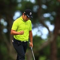 ナイスパーに珍しくガッツポーズ 2019年 日本オープンゴルフ選手権競技 最終日 比嘉一貴