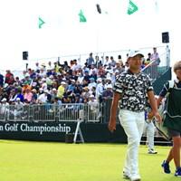 最近、カメラ目線が好きなゲンちゃん。 2019年 日本オープンゴルフ選手権競技 最終日 時松隆光