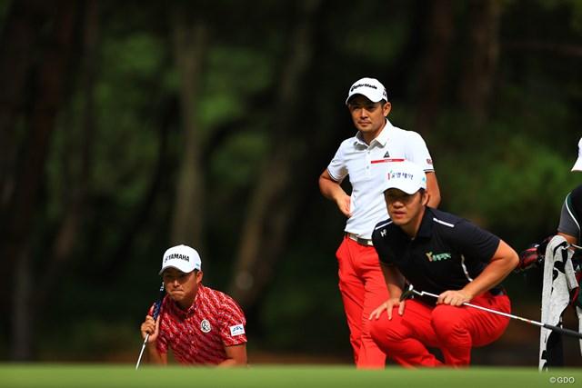 2019年 日本オープンゴルフ選手権競技 最終日 塩見好輝 赤が下に渋滞
