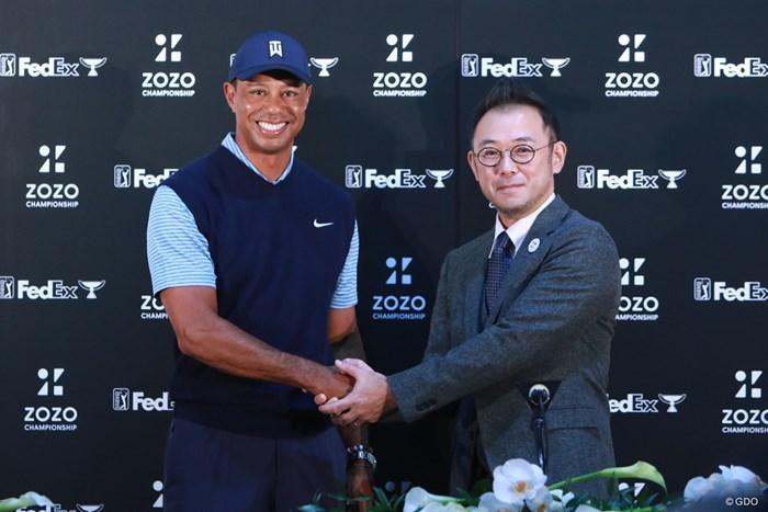 タイガー・ウッズとZOZOの澤田宏太郎社長 タイガー・ウッズ