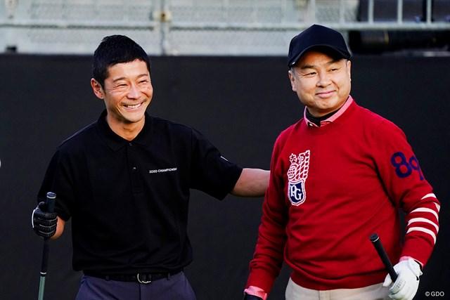旧知のゴルフ仲間でもある孫正義、前澤友作両氏