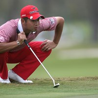 首位に4打差の17位タイと、上々のスタートを切った池田勇太 (Marc Serota /Getty Images) 2010年 WGC CA選手権 池田勇太