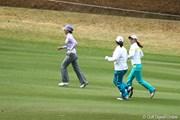 2010年 ヨコハマタイヤゴルフトーナメント PRGRレディスカップ初日 横峯さくら、上原彩子、アン・ソンジュ