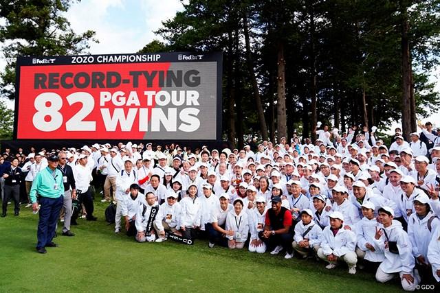 「RECORD-TYING PGA TOUR 82WINS」