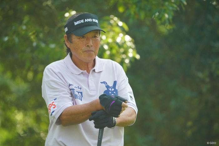 2ホールを残して途中棄権した尾崎将司 2019年 マイナビABCチャンピオンシップ 初日 尾崎将司