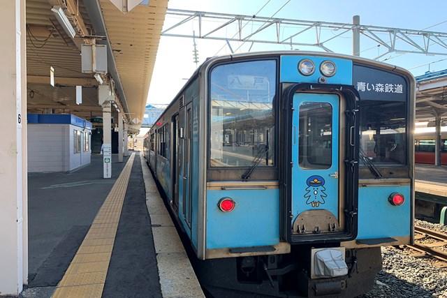 青森駅から「青い森鉄道」に乗車