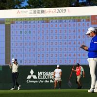 このビジョンはZOZOでも活躍 2019年 樋口久子 三菱電機レディスゴルフトーナメント 初日 柏原明日架